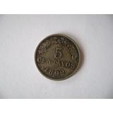 Moneda Boliviana 5 Centavos De 1892