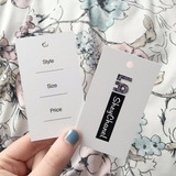 100 Etiquetas Colgantes Tags Saca Bocado + Diseño Gratis