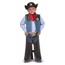 Disfraz De Cherif Policia Vaquero Niños Fiestas Disfraces