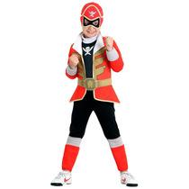 Fantasia Power Rangers Vermelho Premium S.megaforce