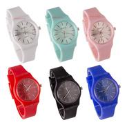 Relojes Silicona Dama Hermosos X 5 Unidades Recomendados