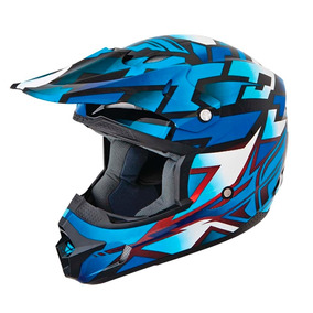 Capacete Cross Fly Kinetic Block Out Azul 58