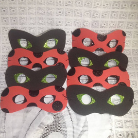 20 Máscaras Lembrancinha Miraculous Ladybug / Cat Noir Eva