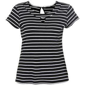 Blusa Plus Size Feminina Ponto Forte - Bco/pto