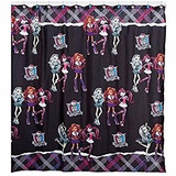 Cortina De Baño Infantil Monster High Tela Nueva Poliester