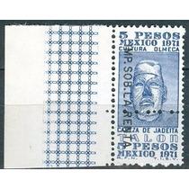 Sc () Año 1971 Fiscal Cultura Olmeca 5 Pesos Cabeza De Jadei