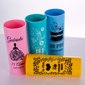 Kit 100 Copos Long Drink Lembrancinhas Personalizados R$1,79