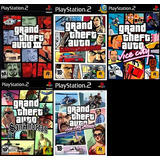 [ps2] Saga Grand Theft Auto Gta (5 Juegos) Para Play 2