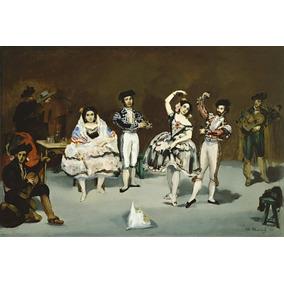 Lienzo Tela Edouard Manet Ballet Español 70x104cm