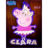 Peppa Pig Cartel Personalizado En Goma Eva