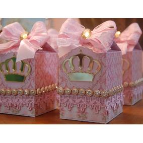 Lembrança Princesa Com Coroa De Acrílico 36 Unidades