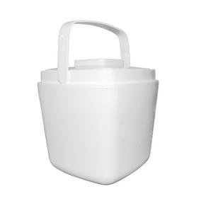 Cubeta Para Hielos 1 Litro Para Bar Cantina Fiestas Blanca