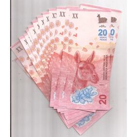 Nuevo Billete De 20 Pesos Sin Circular Por 5 Unidades