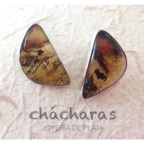 Aretes Sonia Con Ámbar Chiapaneco Natural En Plata .925