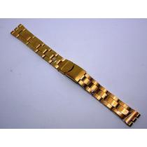 Pulseira Aço 18mm Dourada Tipo Swtach