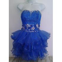 Vestido De Gala 15 Años Corto A La Moda