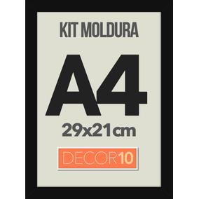 Moldura Quadro A4 29x21cm C/ Acrilico P/ Fotos Certificados