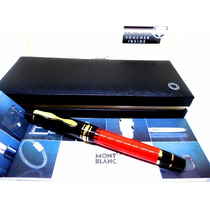 Caneta Mont Blanc Meisterstuck Ballpoint Black & Red Limited