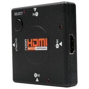 Switch Hdmi Sw3 Con 1 Salida Y Selector 3 Entradas Noga