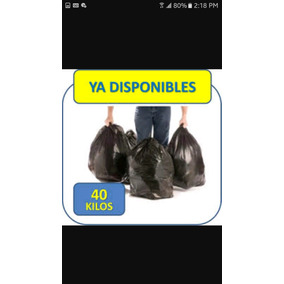 Bolsas Negras 40 Kgs Extrafuertes