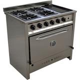 Cocina Industrial Gastro-equip 4 Hor. Y Plan. 90cm En Lanus