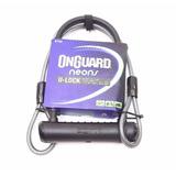 Cadeado U-lock + Cabo Onguard 8154 Reforçado Chave Bike Moto