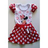 Vestido Infantil Minnie Roupa Fantasia Festa