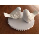 Topo De Bolo Passarinho De Porcelana