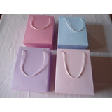 50 Sacolas, Sacolinhas Lembrancinha Papel Colorido (14x7x18)