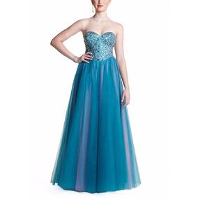 Vestido De Debutante - Verde - 40 - Pronta Entrega - Vf00039