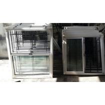 Ventana Aluminio Vidrio Entero 100 X 090 C/ Reja .oferta