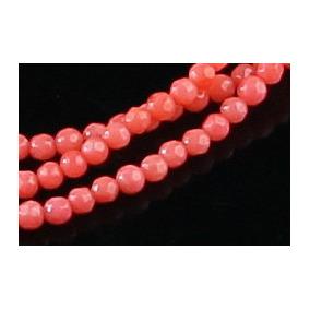 Coral Podange Rosado Bola Esfera Fac 3 E 4mm Teostone 455