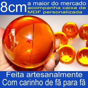 Esfera Do Dragão Un. 8cm Dragon Ball Tamanho Real+caixa Mdf