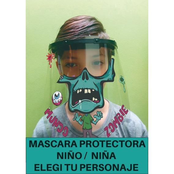 Mascara Protector Barrera Facial Para Ni?o/a Personalizada