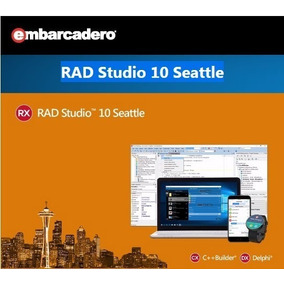 Rad Studio Delphi Xe10 Seattle + 30 Componentes De Brinde