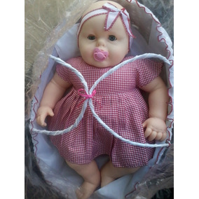Muñeca Con Cesta, Llora Al Sacarle El Chupón Bebé Querido