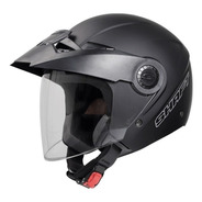 Casco Shaft 211 Abierto 3/4 Negro Mate Con Visor Certificado