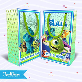 Monster Inc Bolsitas Golosineras Personalizadas Pack X10