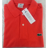 Polo Camisa Camiseta Lacoste Slim Fit Lisa Listrada