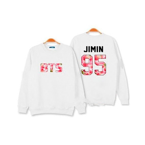 Blusa Moletom Feminina Kpop Bts Integrantes Jimin 95 Corea
