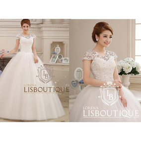 Vestido Noiva Princesa Mangas Gripir Luxuoso Ou Debutante