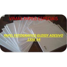 Papel Fotográfico Adesivo A4 135g À Prova D´água 100 Folhas