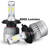 Foco Led Para Auto 8000 Lumens H4 40w Alta Y Baja Aluminio