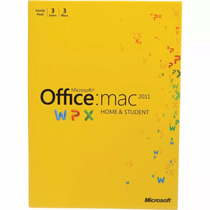 Office Home & Student 2011 Para 3 Mac (lacrado)