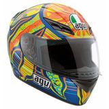 Casco Moto Integral Agv K3 Top Cinco Continentes