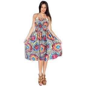 Halterneck 3 1 Ropa De Playa Vestido Maxi/cubierta/de Dama D