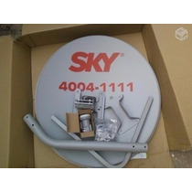 Kit Antena Sky 60 Cm + Cabo+lnb+conectores