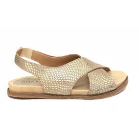 Sandalias Zapatos Bajas Cruzadas Cuero Mujer Litalia Heyas