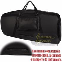 Capa Case Master Luxo Couro Pelucia Para Tuba Bombardao 4/4