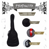 Funda Guitarra Criolla Estuche Friselina Mochila Tela Envios